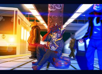 Late Night Train (Commission Art)
