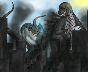 Zilla Jr and Godzilla