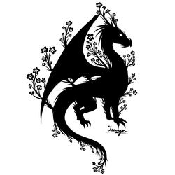 Dragon and Forget Me Nots