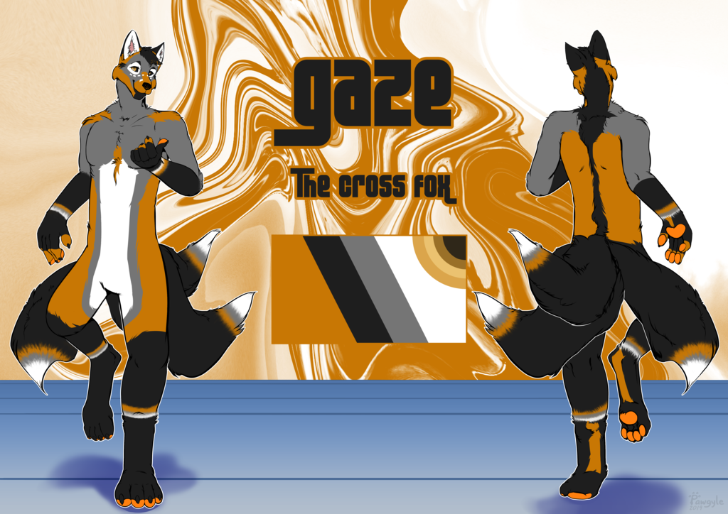 Reference sheet, Gaze the cross fox