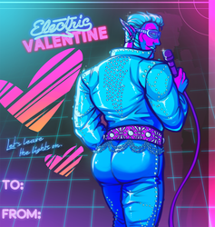 Synthwave Elfvis Valentine