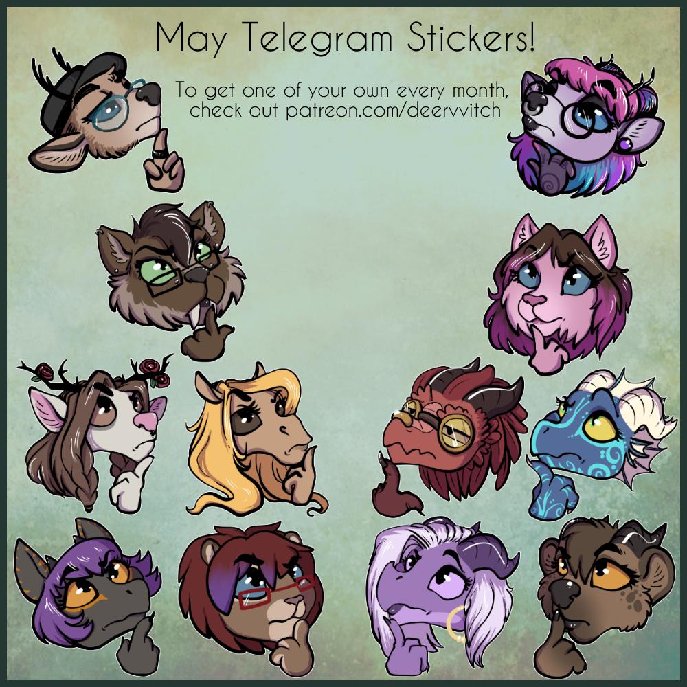May Telegram Stickers Weasyl