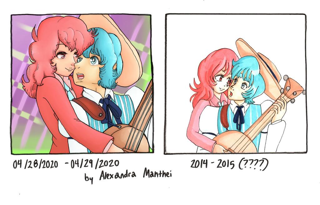 Most recent image: Akvamarin and Rosita - Art Comparison 4