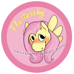 Fluttershy Button