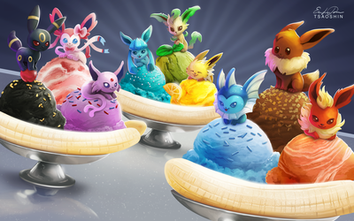 Eeveelution Banana Splits