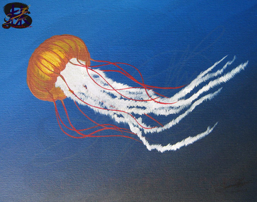 Jiggly Jelly - Jellyfish - Acrylic paint