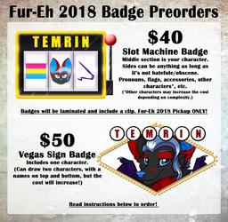 Fur-Eh 2018 Badge Preorders OPEN