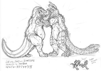 Deviljho versus Zinogre