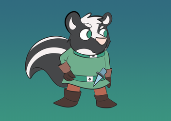 Barcode Skunk the Grumpy Rogue