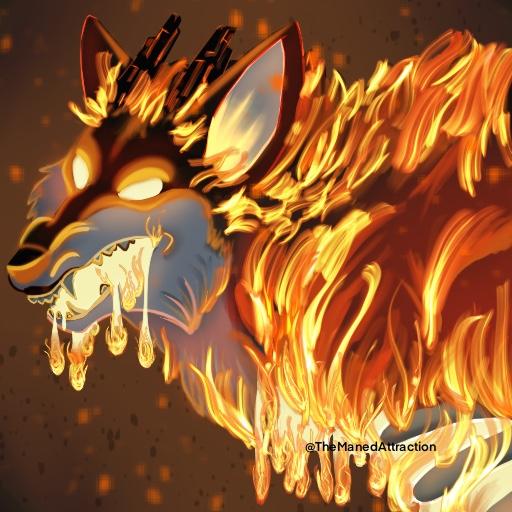 2019 Halloween Icon - Leah the flaming Vicar