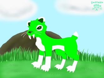 Emeraldia the Sabertoothed Cat