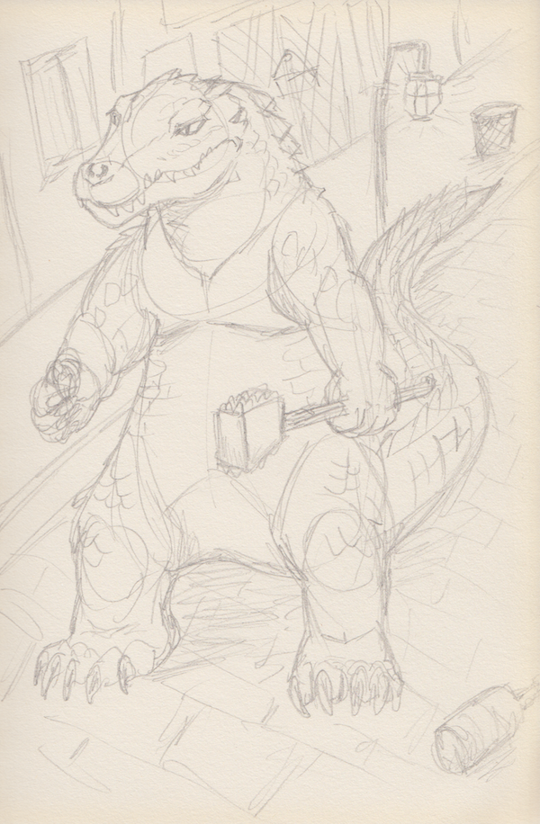 Most recent image: Here's a croc