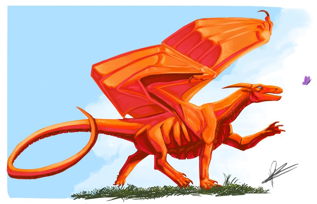 Warm Dragon Speed Paint