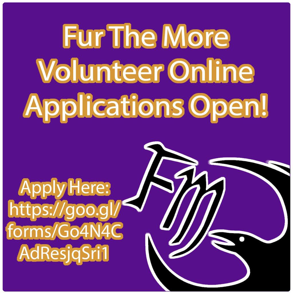 Fur The More Online Volunteer Application is now OPEN!