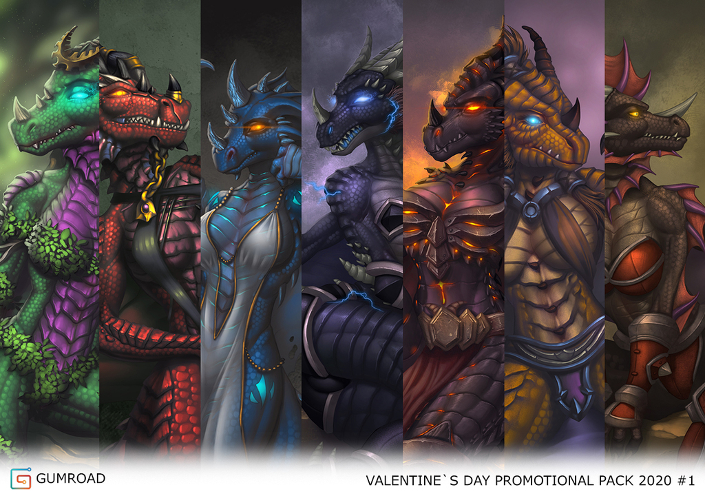 2020 Promotional Valentine's Dragoness Pack [Limited]