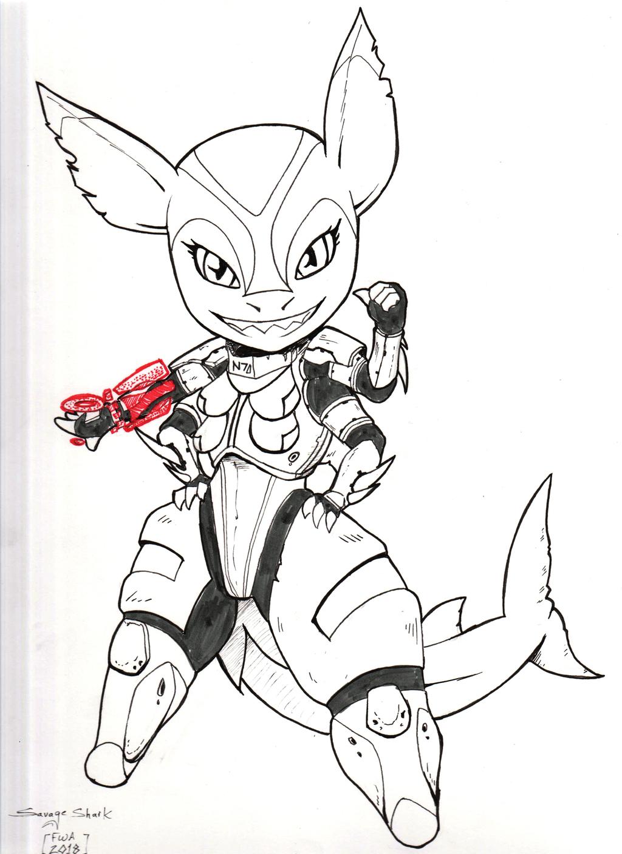FWA Take HOME - Shogunfox Shark Masseffect chibi