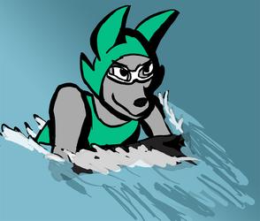 Ghostfox swimming