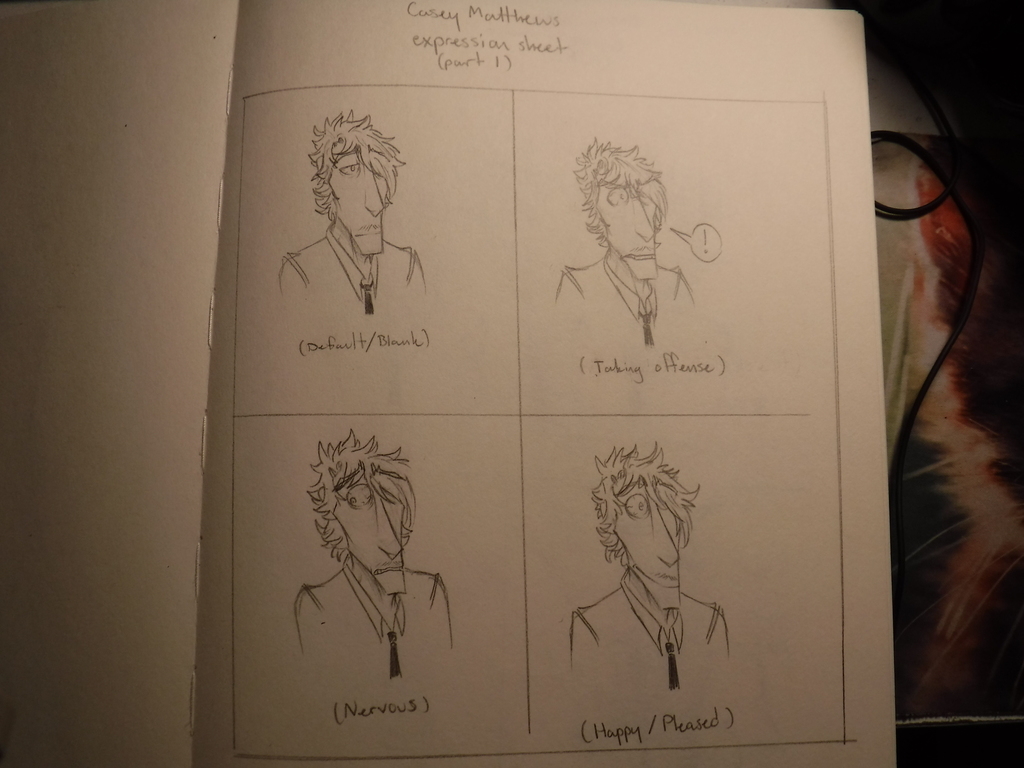 Casey facial expressions Part 1
