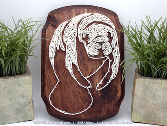 String art: Manatee