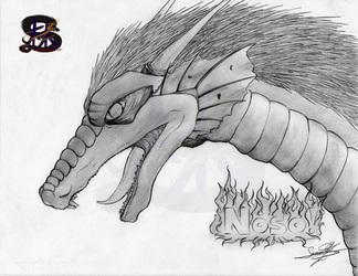 Noso! - Eastern Dragon - Pencil Art