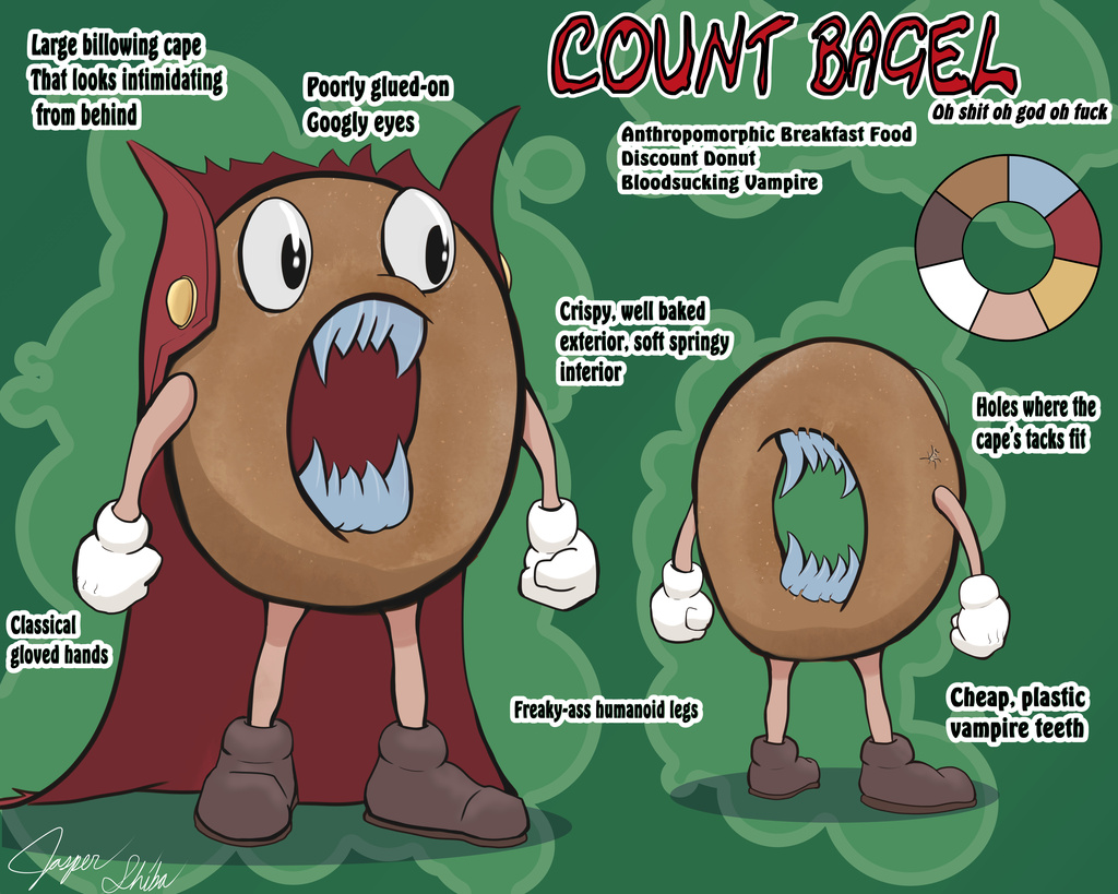 Most recent image: Count Bagel Model Sheet (Comm)