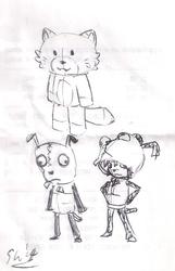 receipt sketch: gir Hoodie and mascot designs