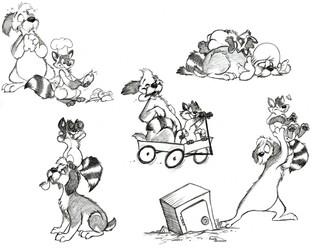 Barnaby and Tenax DoodleDump by JustJim