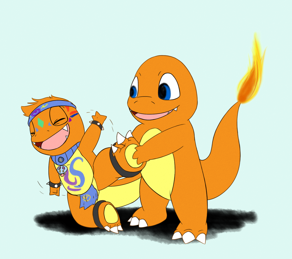 Commission: Ticklish Charmander