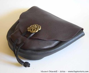 Leather pouch Renaissance SCA Pirate Celtic