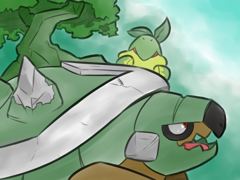 Most recent image: Torterra and Turtwig