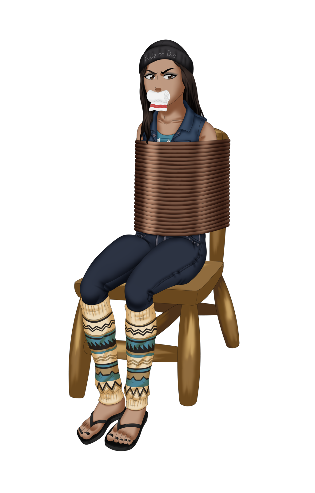 Nova Kidnapped (tied up to chair)