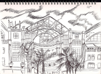 Urban Sketch - Clark Quay Riverside Point