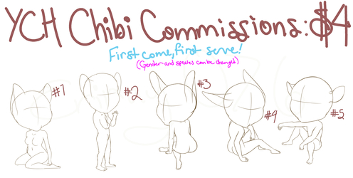 YCH Chibi Commissions! $4 (ALL TAKEN!)
