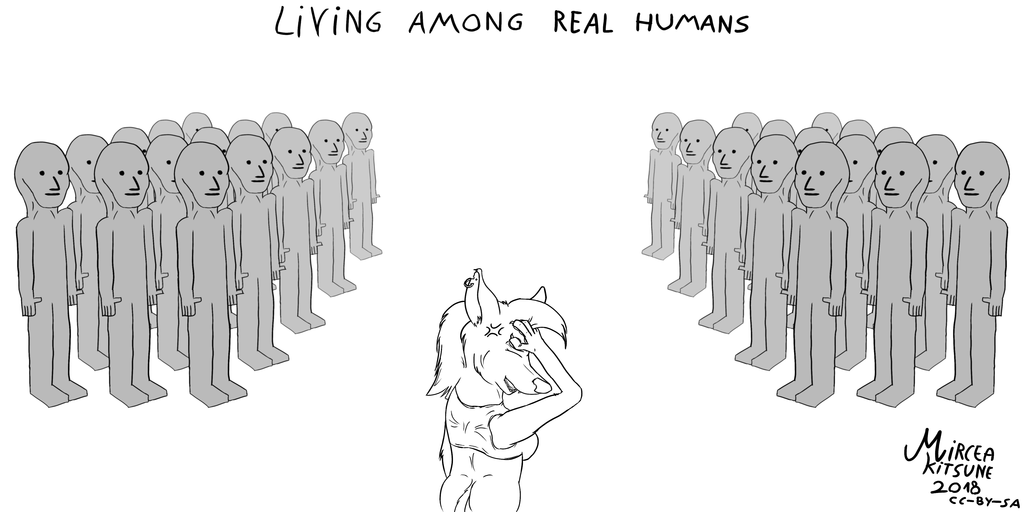 Most recent image: Living among real humans