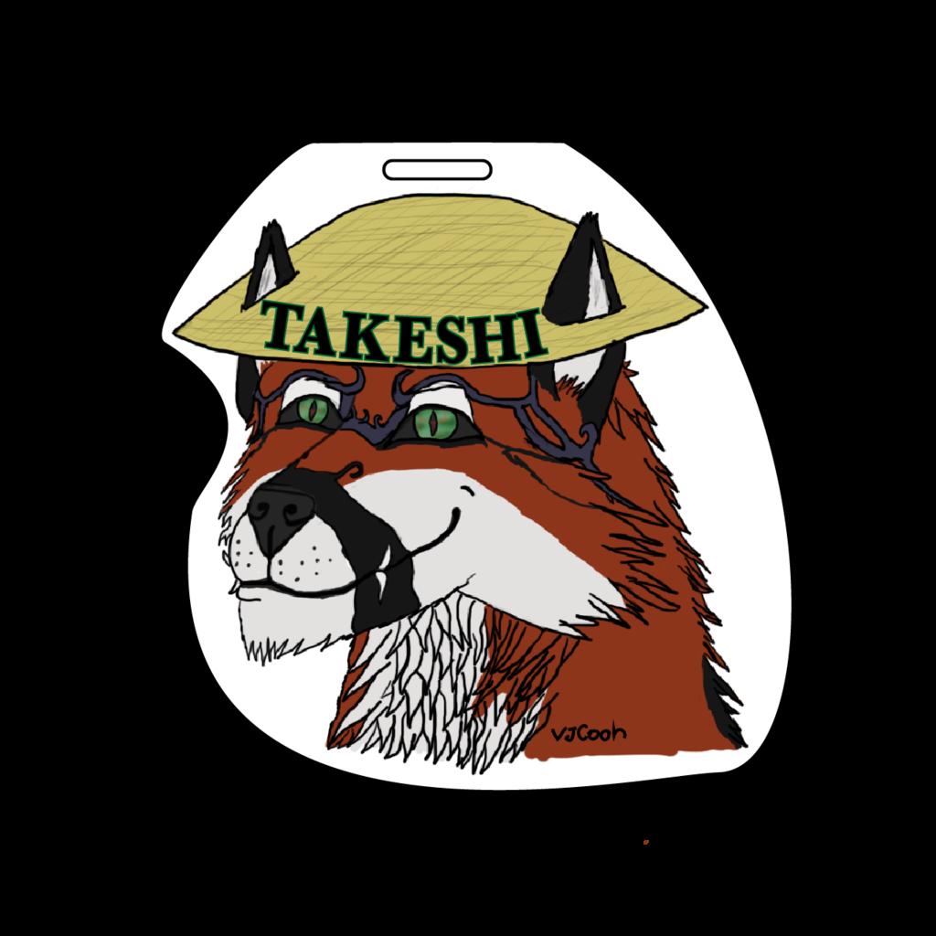 Takeshi hat badge