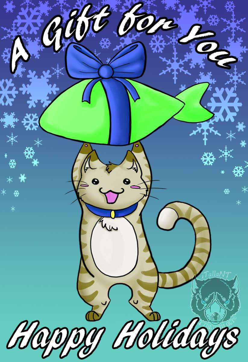 Most recent image: Kitty Christmas Card 2014