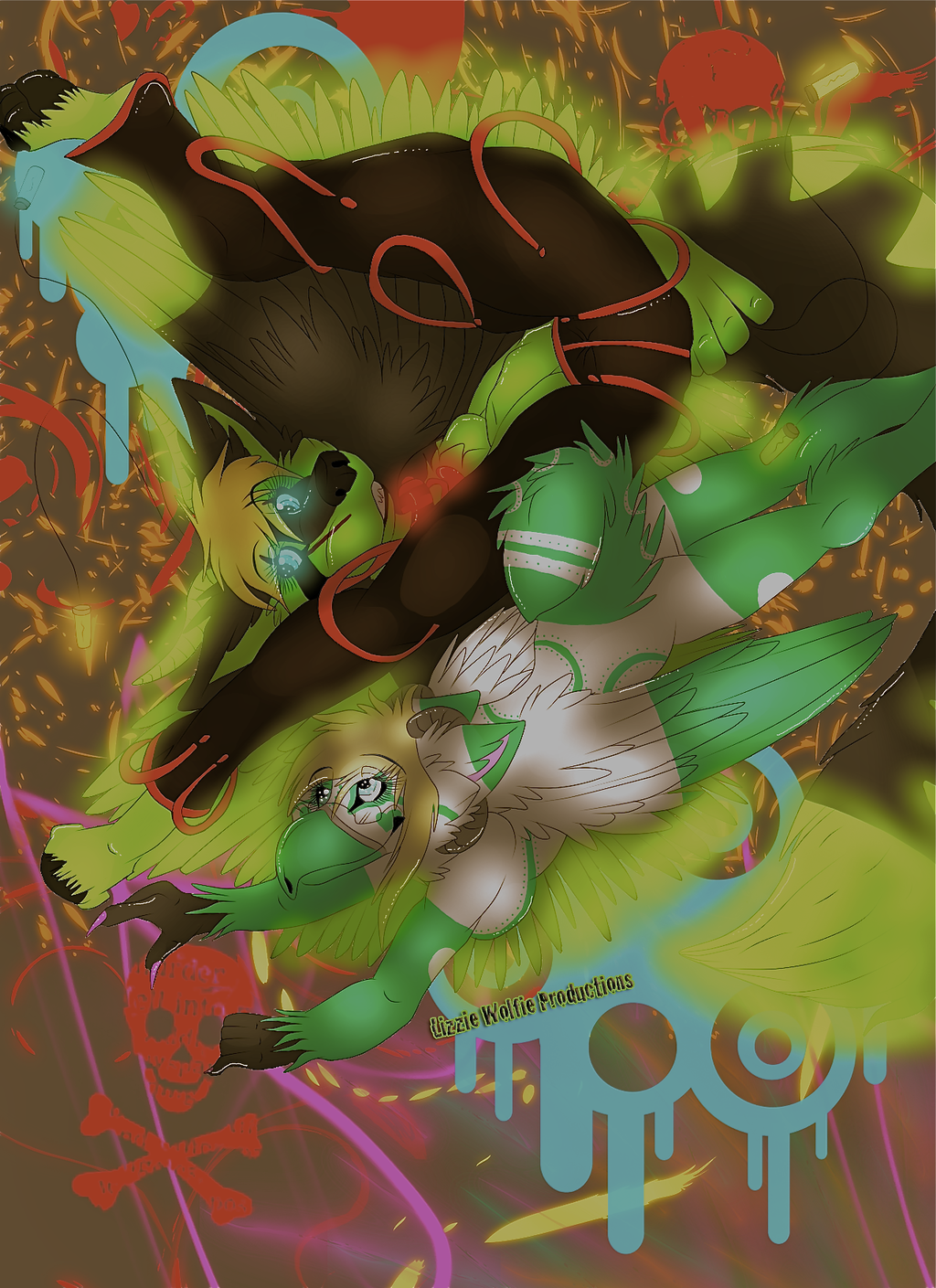 Most recent image: Raving Lizzie And Rainbow Loving Gryphon (Art Project)
