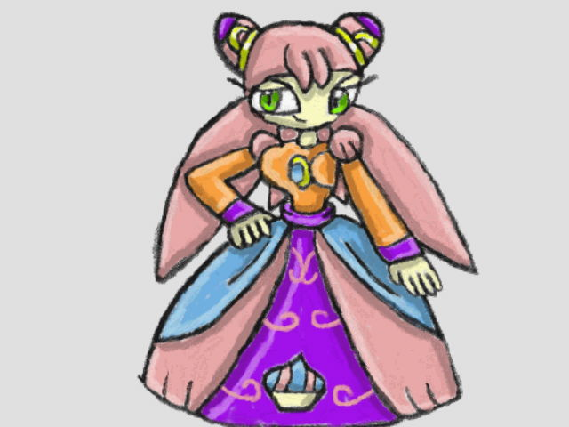 Luna with her Cupcake Dress