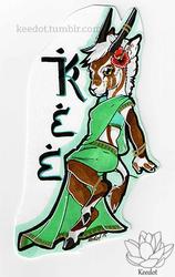Chibi badge // Kee