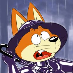 Shu the (rain) ninja dog