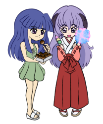 Rika and Hanyuu