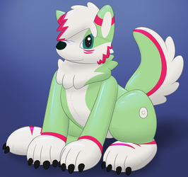 An inflatable toy