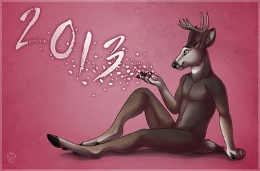 Happy Nude Deer 2013