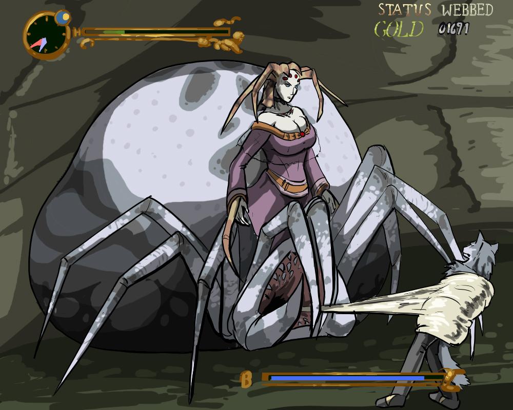 Castlevania - Snagged in Queen Algenie web