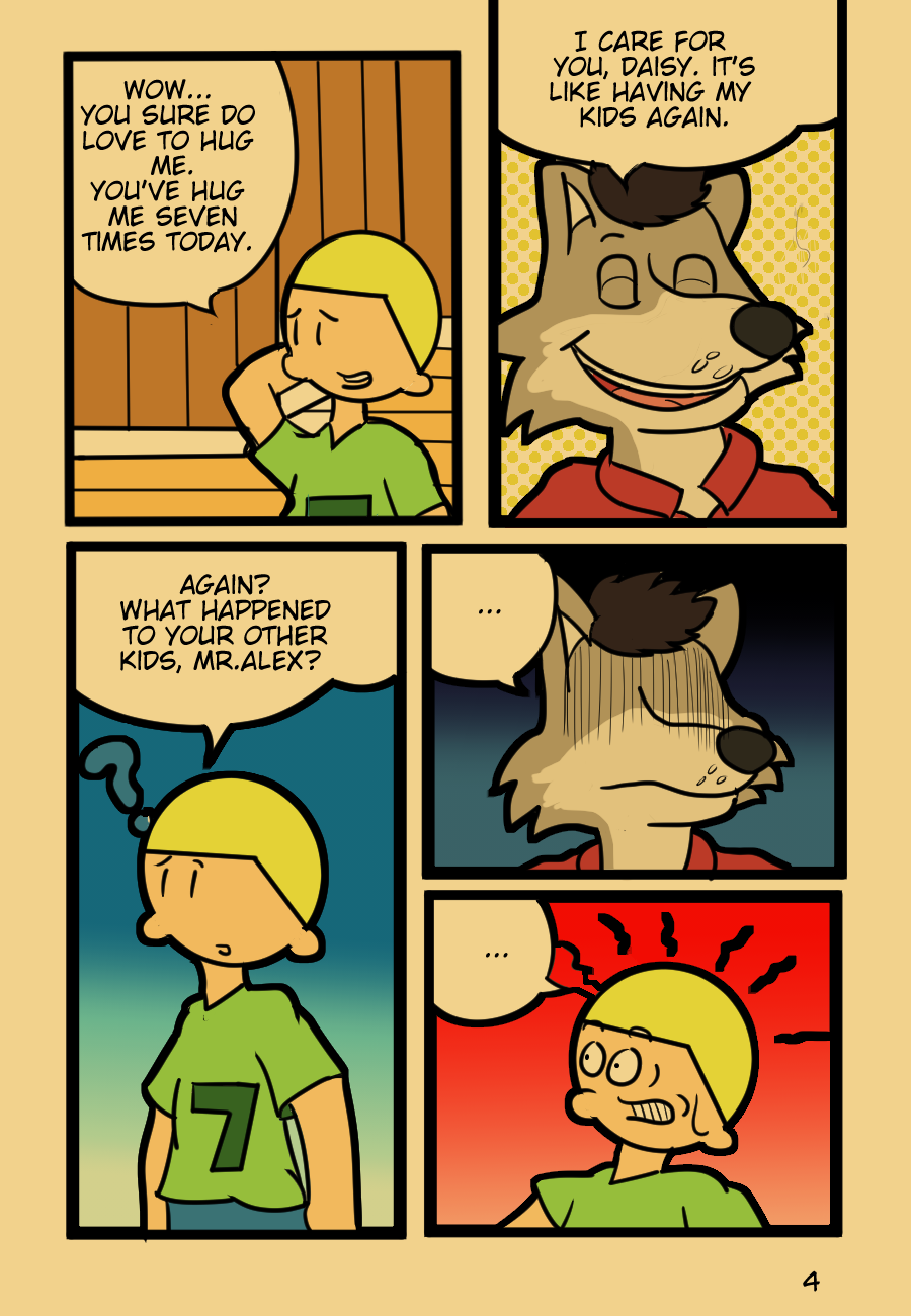 Most recent image: FurryWorld Webcomic Chapter 1 Page 4
