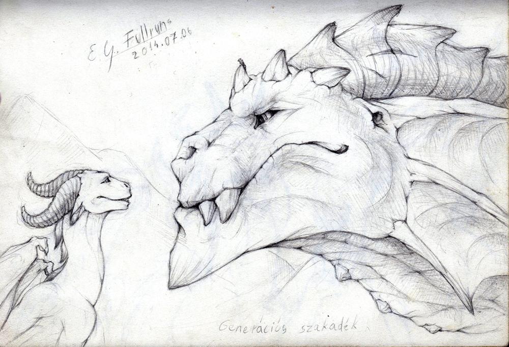 The oldgod - Di'en and Kherzal sketch - 2014/07/06