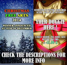 Christmas Free Arts / Your Doggie here