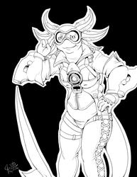 Inked Cosplay - Jawbreaker as Tracer