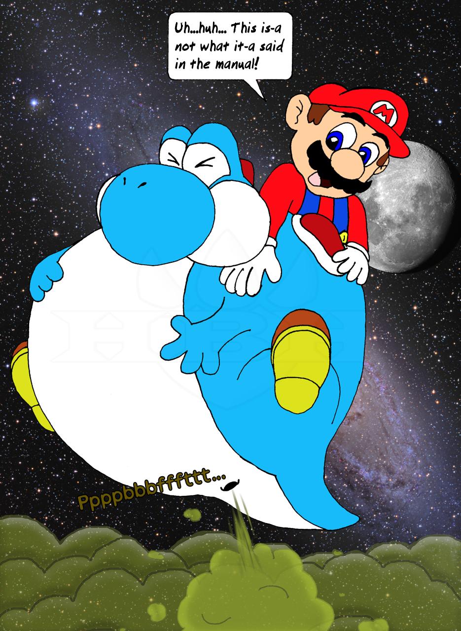 How Blimp Yoshi Actually Flies  Weasyl-9421