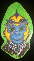 Punky Monkey ConBadge